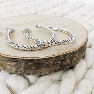 John Hardy Classic Chain Kepang Hoop Earrings